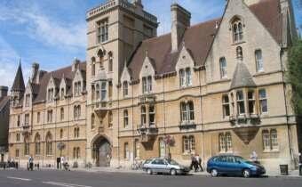 Balliol College taken from Broad Street in Oxford