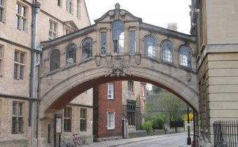Hertford Bridge (popularly known as The Bridge of Sighs) spanning New College Lane in Oxford