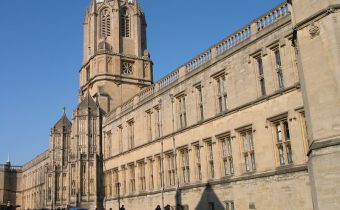 Outside Christ Church College in Oxford