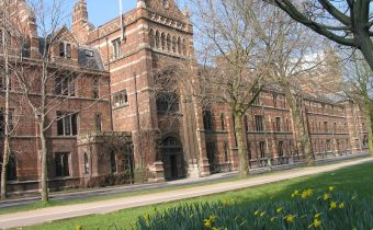 Outside Keble College in Oxford