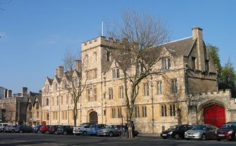 Outside of St. John's College in Oxford