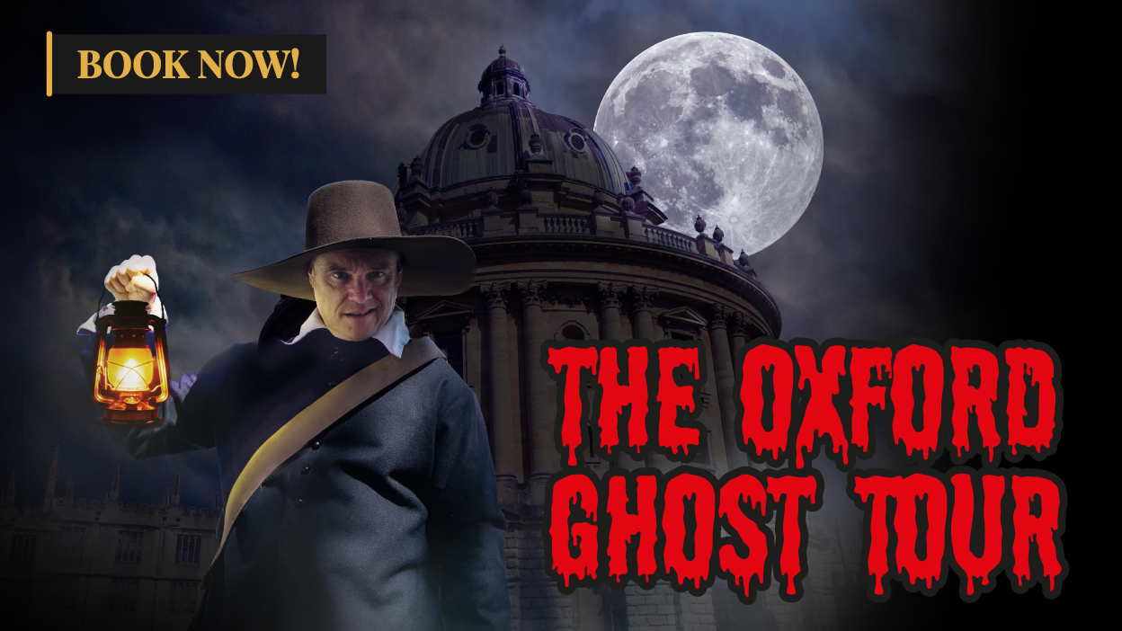 Illustration reading The Oxford Ghost Tour