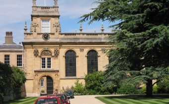 Outside Trinity College in Oxford