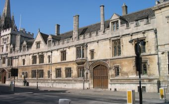 Outside All Souls College in Oxford