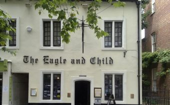"The Eagle and Child pub from St. Giles, Oxford - picture credit: ""Ozeye"" (http://commons.wikimedia.org/wiki/User:Ozeye)"