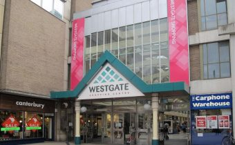 Entrance to the Westgate Shopping Centre in Oxford